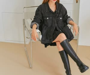 black boots, black outfit, and loose fit image