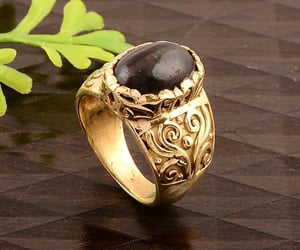 fashion jewelry, promise ring, and onyx ring image