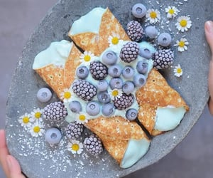 crepes, breakfast, and flowers image
