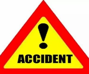 traffic police, road accident in guwahati, and non-fatal nature image