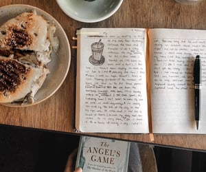 books, breakfast, and reading image