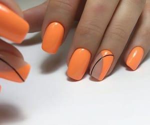 ногти, руки, and оранжевый image