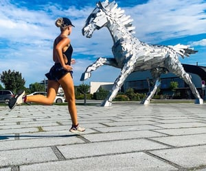 animal, athlete, and jogging image
