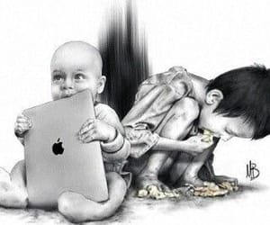 children, hunger, and kids image