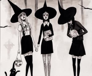 witch, Halloween, and illustration image