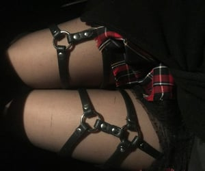 goth, harness, and leather image