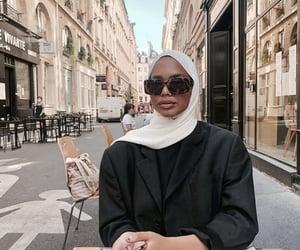fashion, hijab, and paris image