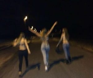 friends, night, and grunge image