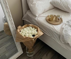 flowers, bedroom, and home image