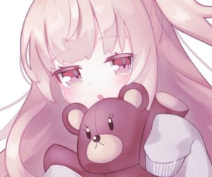 anime, baby, and pink image