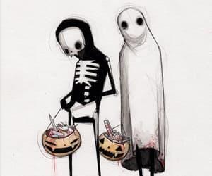 blackandwhite, etsy, and Halloween image