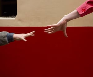 hands, red, and aesthetic image
