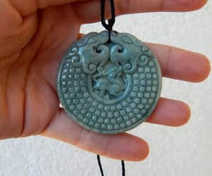 etsy, dragon necklace, and natural jade image