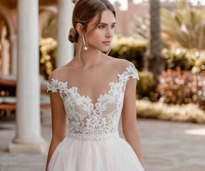 blanco, boda, and dress image