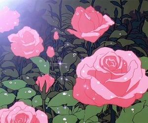 rose, gif, and anime image