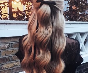 hair, hairstyle, and waves image