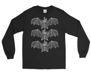 bat, gothic, and bat shirt image