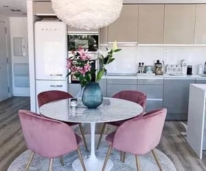 kitchen, pink, and cuisine image