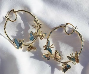 earrings, fashion, and butterfly image