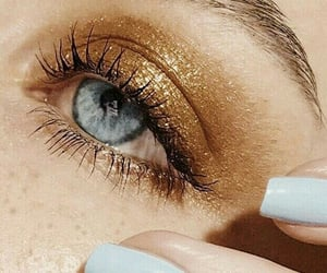 makeup, nails, and blue image