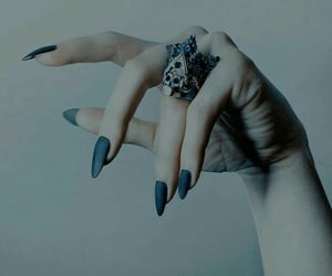 blue, nails, and azul image