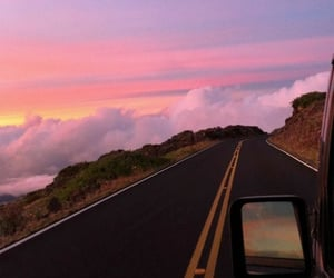 aesthetic, pink, and road image
