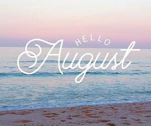 August, summer, and شهر image