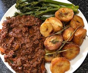 broccoli, rosemary, and roast potato image