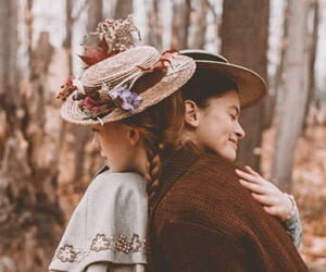 anne with an e, anne shirley, and diana barry image