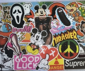 aesthetic, mickey, and stickers image