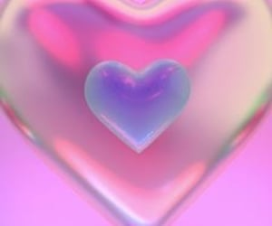 heart, hologram, and pink image