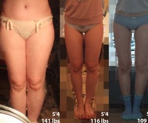 before and after, weight loss, and fitness image