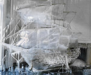 """lamorbidezza:""""The sculpted ice boat photographed by Tim Walker for Vogue US"""""""