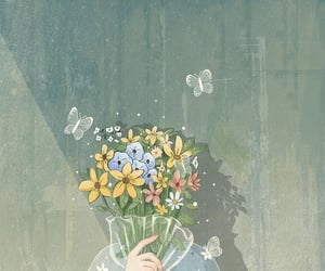 flowers, illustration, and wallpaper image