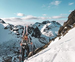 artic, outdoors, and Skiing image