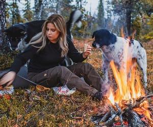 atumn, bonfire, and outdoors image