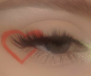 heart, aesthetic, and eye makeup image