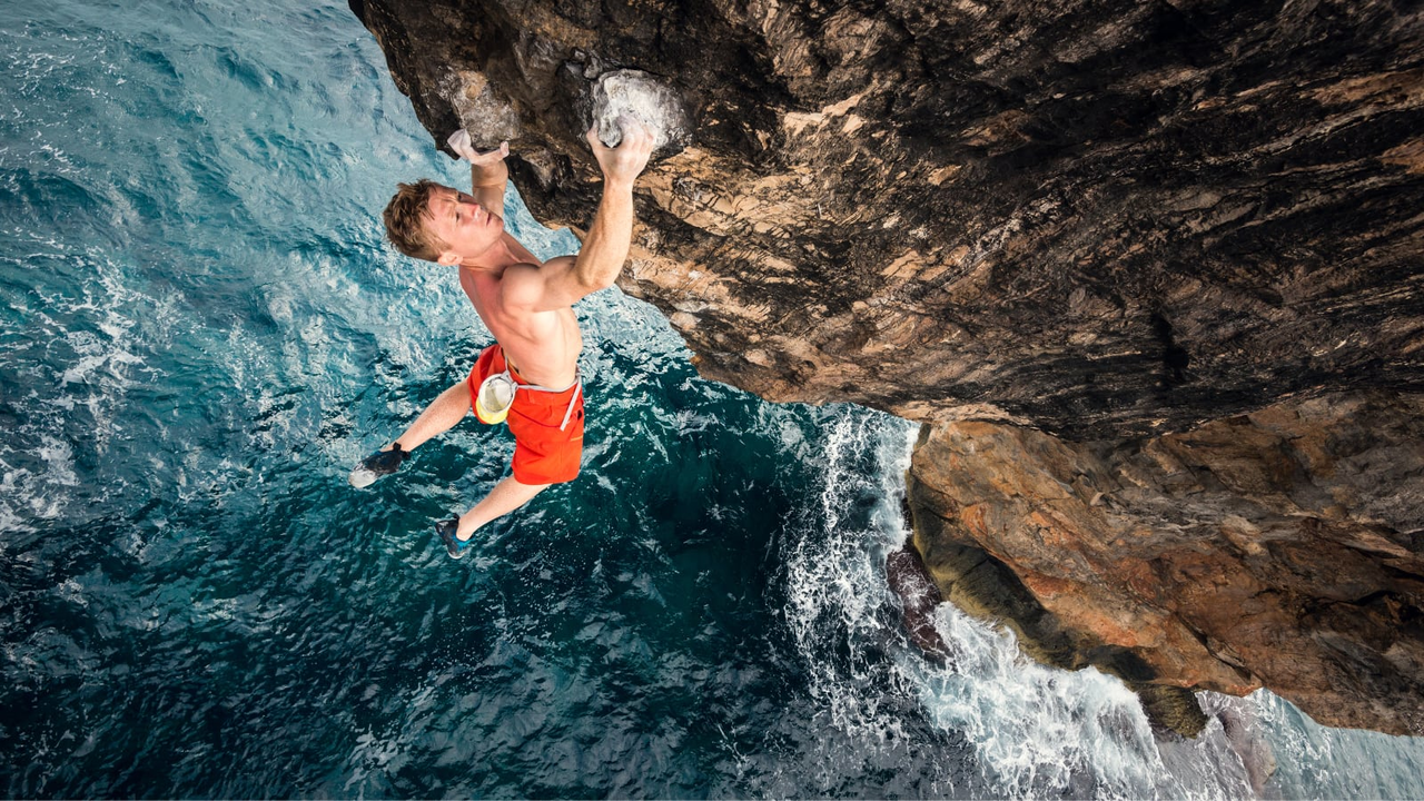 climbing, fitness, and sea image