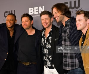 jared padalecki, misha collins, and david ramsey image