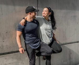couple, fitness, and youtube image