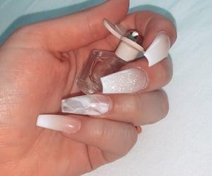 beauty, glitter, and long nails image