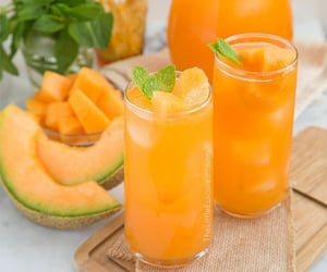 drink, food, and melon image