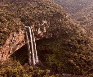 brazil, nature, and waterfall image