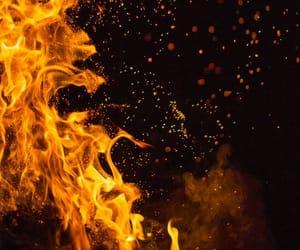 фон, огонь, and красиво image
