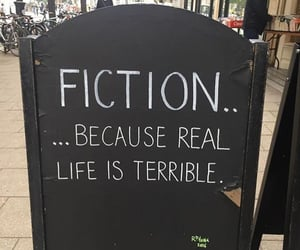 fiction, quotes, and life image