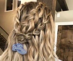 accessories, blond, and braids image