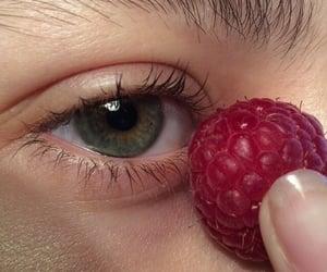 eye, eyes, and raspberry image