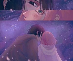 anime, naruto, and night sky image