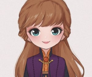 anna, princesse, and disney image