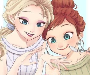 anna, disney, and princess image